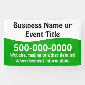 Custom Green White Business Advertising