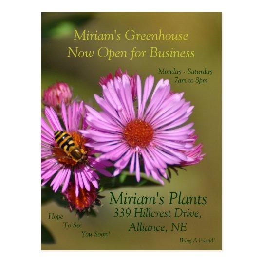 Custom Greenhouse Invitation Postcard
