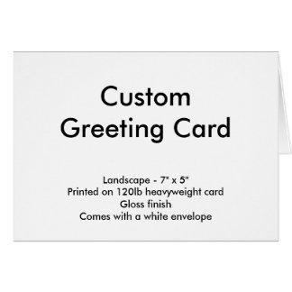 "Custom Greeting Card - Landscape 7"" x 5"""
