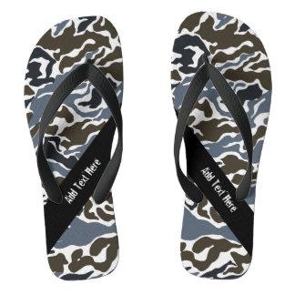 Custom Grey Camouflage Flip Flops