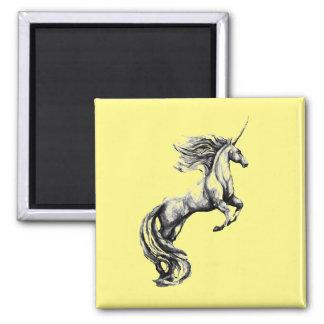 Custom Greyscale Unicorn Magnet