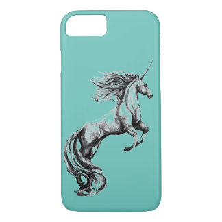 Custom Greyscale Watercolor Unicorn Phone Case