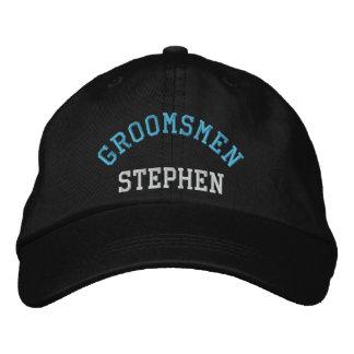 Custom groomsmen bachelor blue baseball cap