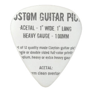Custom Guitar Pick - Acetal, Heavy Gauge 1.00mm