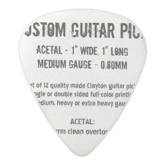 Custom Guitar Pick - Acetal, Medium Gauge 0.80mm Acetal Guitar Pick