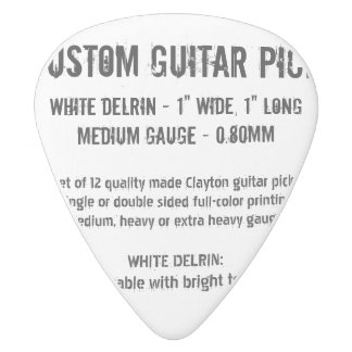 Custom Guitar Pick - Delrin, Medium Gauge 0.80mm