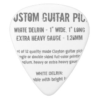 Custom Guitar Pick - Delrin, X Heavy Gauge 1.26mm