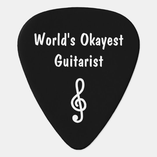 Custom guitar pick for World's Okayest Guitarist