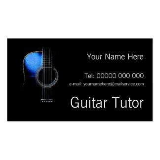 Custom Guitar Tutor Business Card