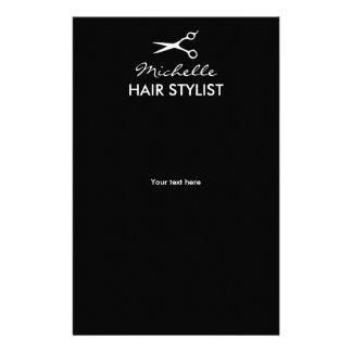 Custom hairdresser flyers for hair stylist salon