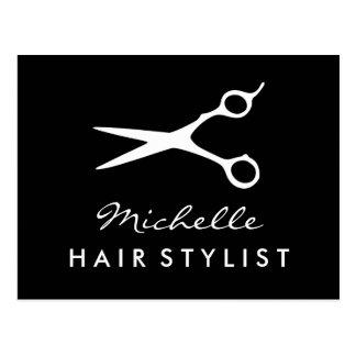 Custom hairdresser postcard for hair stylist salon