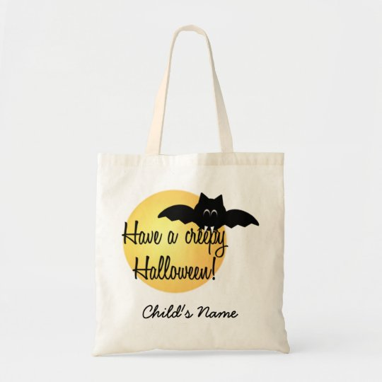 Custom Halloween Bat Trick or Treat bag! Tote