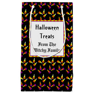 Custom Halloween Candy Corn Pattern Gift Bag