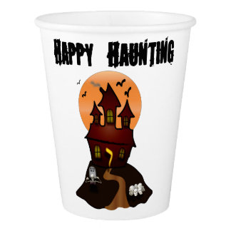 Custom Halloween Haunted House Cups