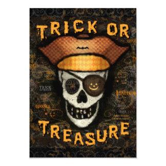 Custom Halloween Pirate Skull Party Invitation
