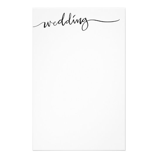 Custom hand lettered wedding stationery paper
