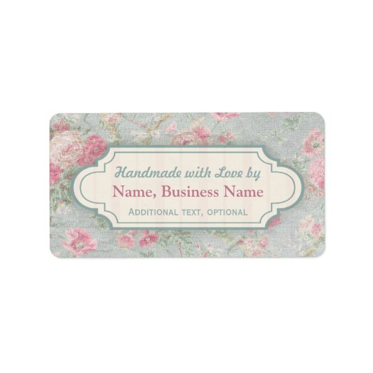 Custom Handmade with Love Labels Shabby Chic