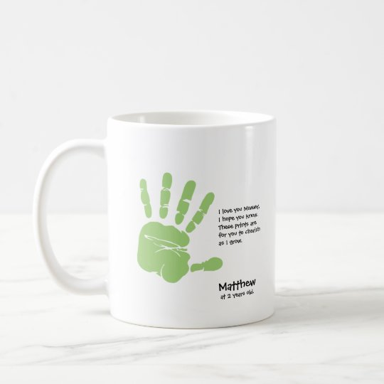 Custom handprint mug from child,