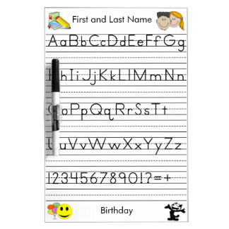 Custom Handwriting Board - Kindergarten Level