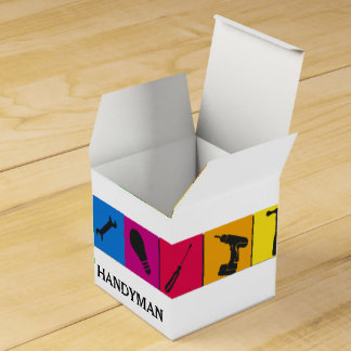 Custom Handyman Colored Repair Carpenter Tools Favour Boxes