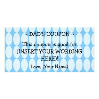 CUSTOM HANUKKAH GIFT COUPON FOR DAD PICTURE CARD