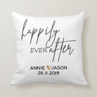 Custom |Happily Ever After | Wedding |Throw Pillow