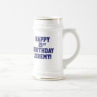 Custom Happy 21st Birthday Beer Stein Beer Steins