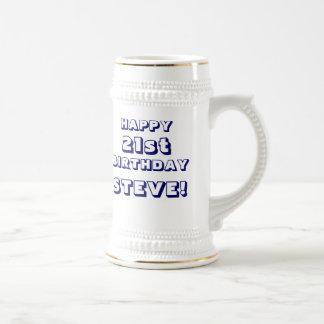 Custom Happy 21st Birthday Beer Stein - Customized Mug