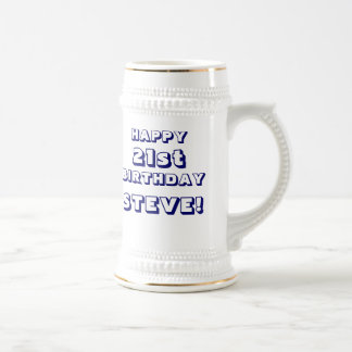 Custom Happy 21st Birthday Beer Stein Mugs