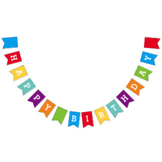 Custom Happy Birthday Party Bunting Banner Flags