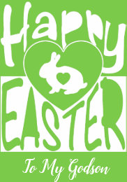 Godson easter gifts on zazzle uk custom happy easter to my godson blank card negle Choice Image