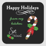 Custom Happy Holidays from my Kitchen Stickers