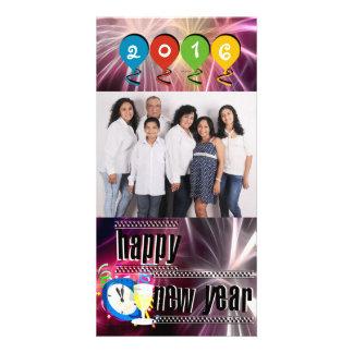 Custom Happy New Year Personalized Photo Card