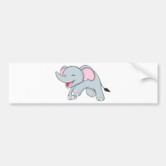Custom Happy Walking Elephant Bumper Sticker