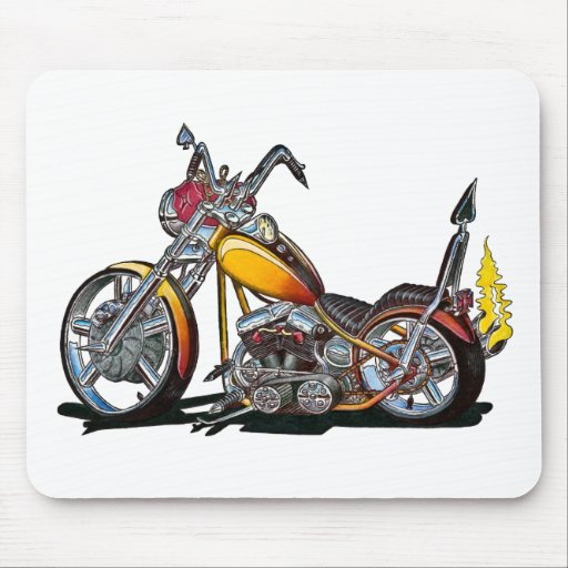 Custom Hardtail Chopper Mouse Pads