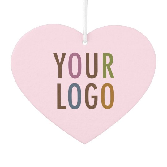 Custom Heart Car Air Freshener with Business Logo