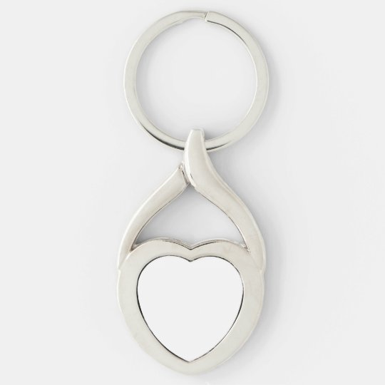 Twisted Heart Metal Keychain