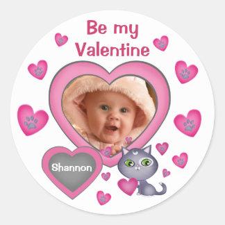 Custom Heart Photo Valentine's Day Stickers