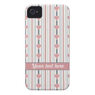 Custom Hearts & Stripes iPhone 4 cover
