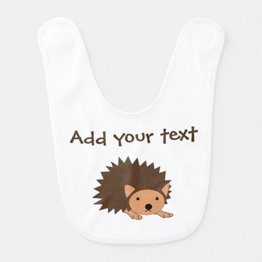 Custom Hedgehog Baby Bib Perfect Baby Shower Gift