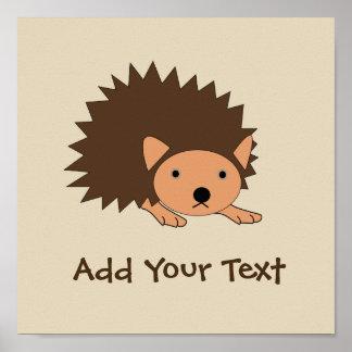 Custom Hedgehog Baby Room Nursery Poster