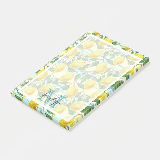 Custom Hip Tropical Summer Lemons Fruit Pattern Post-it Notes
