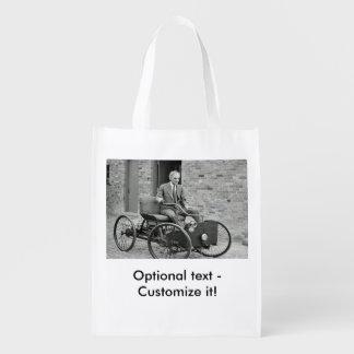 Custom historic photo reusable bag