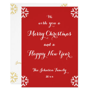 custom holiday merry christmas happy new year card