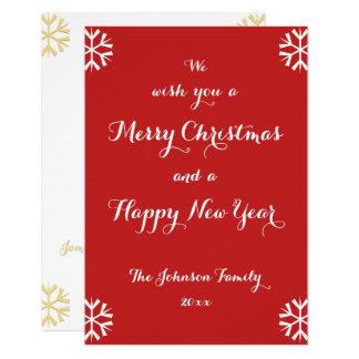 Custom Holiday Merry Christmas Happy New Year Card