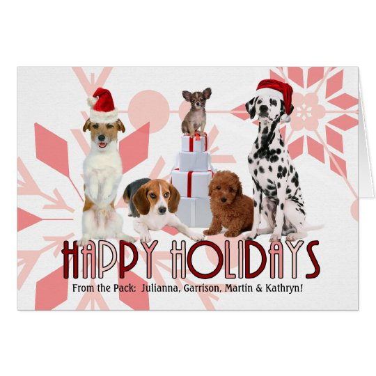 Custom Holiday Trendy Christmas Dogs in Pink Hues