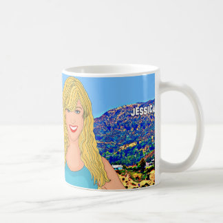 Custom Hollywood Hills Illustration Mug