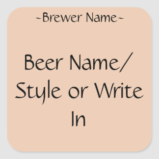 Custom Home Brew Beer Bottle Labels (square) Square Sticker