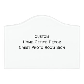 Custom Home Office Decor Crest Photo Room Sign
