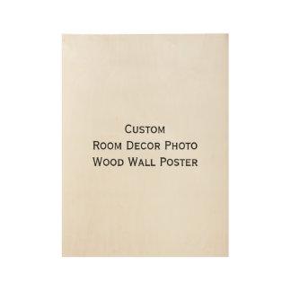 Custom Home Room Decor Photo Wood Wall Art Poster